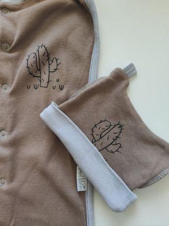 Пеленка-кокон для новорожденных на молнии с шапочкой