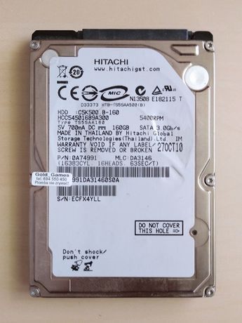 Dysk Hitachi 160 GB format 2,5 - OKAZJA!! TANIO!!