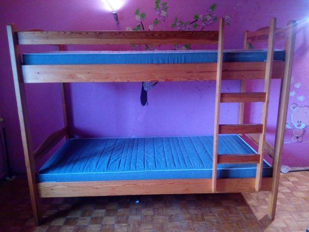 łóżko piętrowe drewniane - rezerwacja do piątku