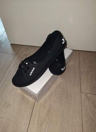 Balerinki buty eko skórka adidas damskie