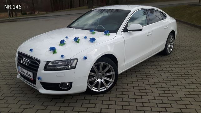 Chabrowa dekoracja/stroik/ozdoba na samochód/auto do ślubu.