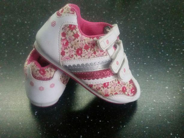 Nowe  buty różowo-białe r.24 7uk