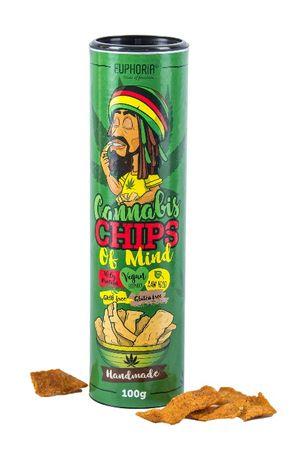Cannabis Chips of Mind 100 g, ręcznie wytwarzane chipsy z nasionami ko