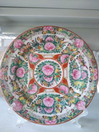 Prato em porcelana chinese antiga