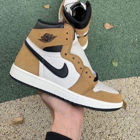 Nike Air Jordan 1 High Rookie of the Year джорданы высокие кожаные AJ1
