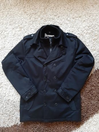 Męski młodzieżowy płaszcz HOUSE czarny L kurtka na JESIEŃ ZIMĘ WIOSNĘ