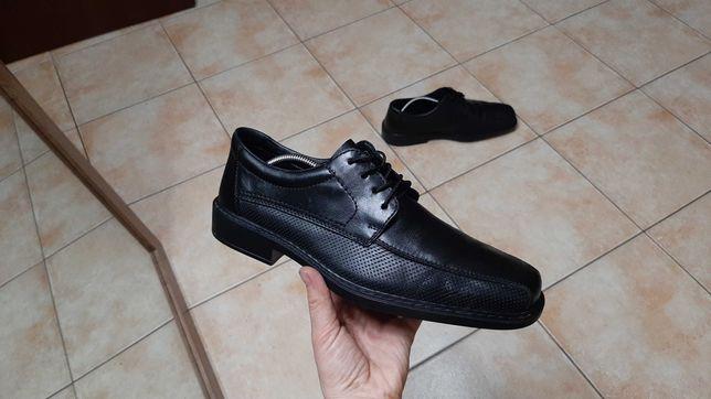 42-43р,стелька28см,Кожаные ботинки,туфли Rieker (Рикер), отличное сост