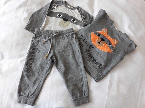 Komplet bluza spodnie i body Coccodrillo 86