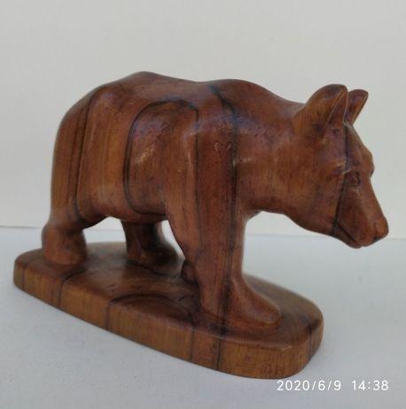 """Статуэтка ручной работы (резьба по дереву) """"Медведь""""."""