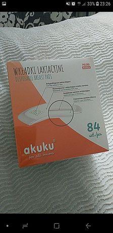 Wkladki laktacyjne Akuku 84szt-Nowe