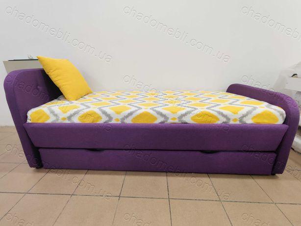 Ліжко м`яке для хлопчика для дівчини з ящиком \ кровать мягкая ламели