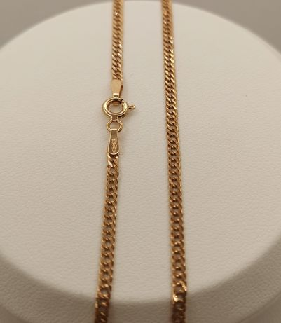 Nowy złoty łańcuszek, piękny splot. Próba 585/14k. Dł. 40cm.