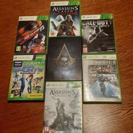 Gry na xbox 360, assassins creed, need for speed, call of duty