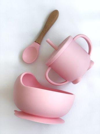 Набор детской посуды, тврелка, поильник, непроливайка, непросыпайка