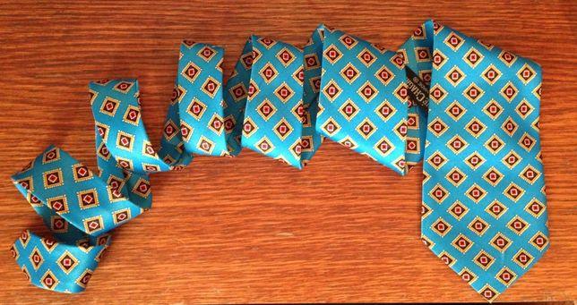 Легкий шелковый галстук RENE CHAGAL hand made