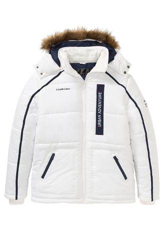 Biała kurtka męska z kapturem URBAN ADVENTURE 46 Wysyłka Bezpłatna