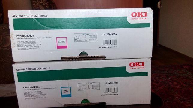 Картриджи цветные для принтера Oki C3200 и C3200n