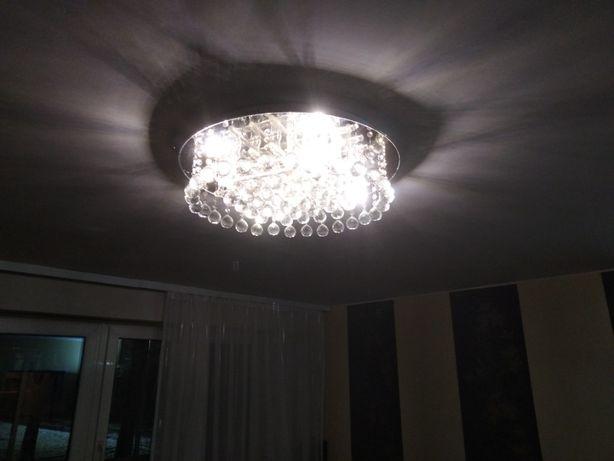 żyrandol kryształowy sufitowy plafon 65cm