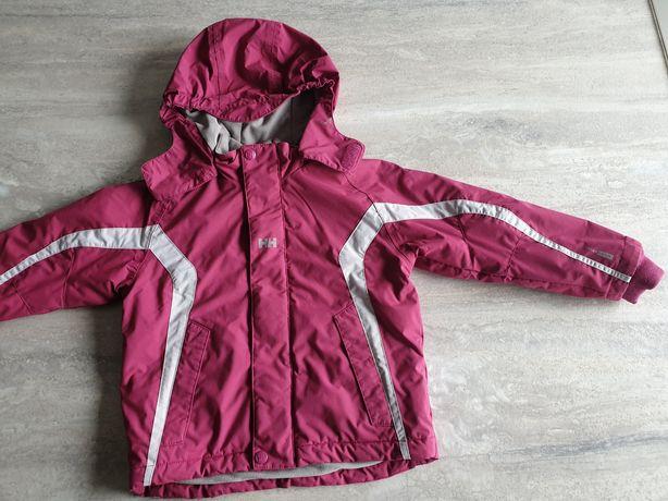 Helly Hansen różowa kurtka zimowa ocieplana dla dziewczynki 6 lat 116