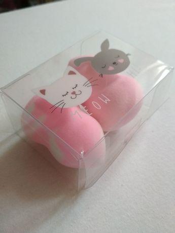 Gąbeczki do makijażu moew kotek różowe