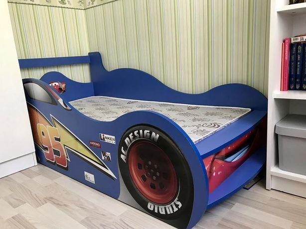Срочно! Кровать-машинка с матрасом