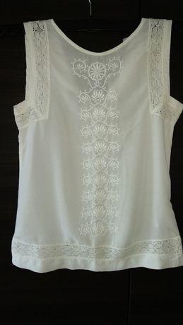 kremowa bluzka z koronką r 34