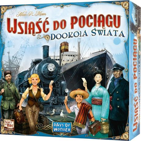 Wsiąść do pociągu - dookoła świata NOWA, FOLIA