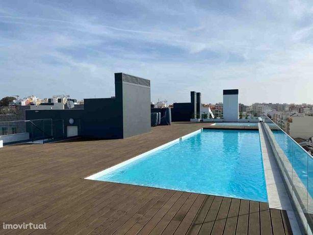 Apartamento T3, Faro, chave na mão, com ampla varanda com...