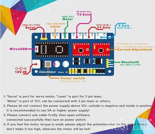Eleksmaker Mana Se 2 eixos (placa expansão arduino nano)