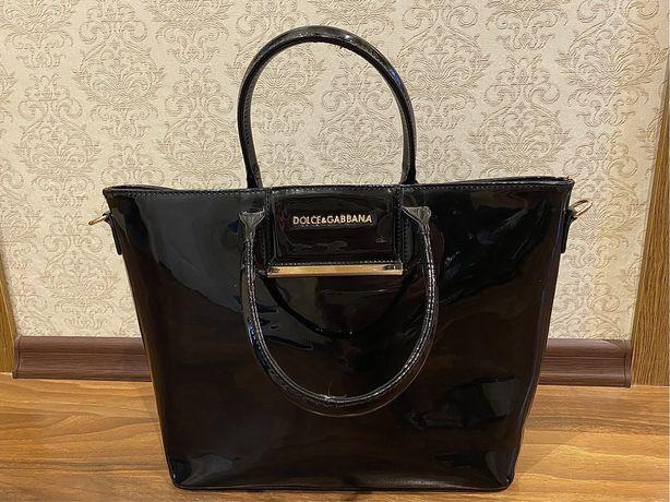 Черная сумка в стиле D&G