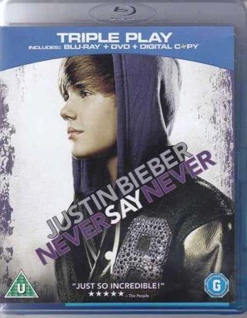 Justin Bieber BLU RAY+DVD+DIGITAL COPY Never say never Novo SELADO