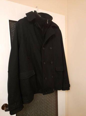 Płaszcz męski, czarny
