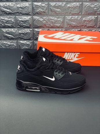 Зимние кожаные кроссовки Nike air Max 90 кросівки Найк аир макс 97
