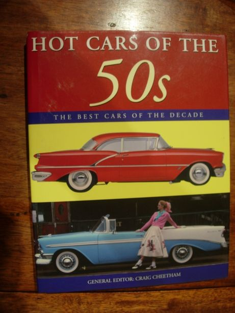"Livro ""Hot cars of the 50s - best cars of the dacade"""