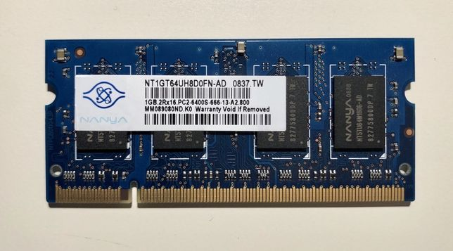 2 Placas de memória para PC portátil