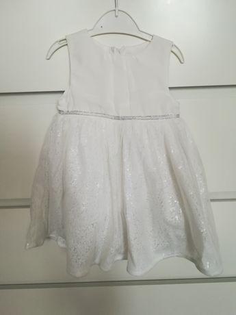 Biała sukienka cool club r. 80