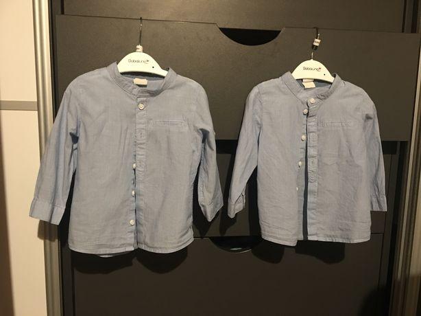 Koszule i spodnie h&m 74 roczek chrzest blizniaki