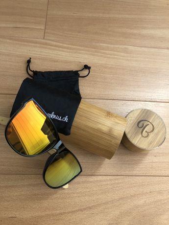 Óculos de sol suíços da marca BAMBUU (NOVO)