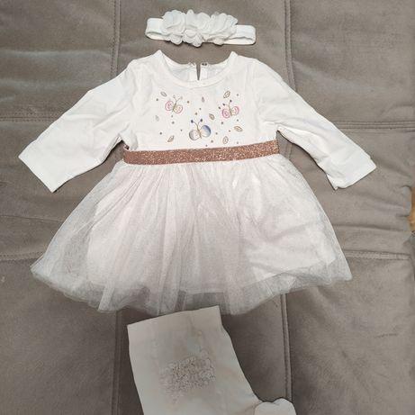 Платье повязка колготки на годик для девочки