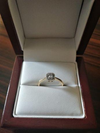 Apart złoto 585 diament pierścionek zaręczynowy rozmiar 11