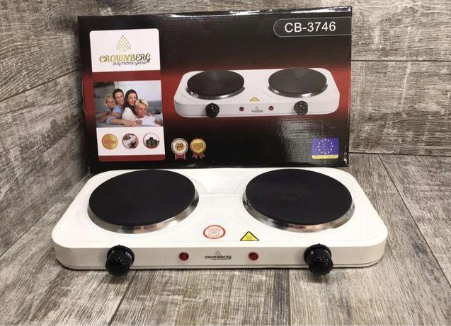 Плита Crownberg CB-3746 дисковая настольная электроплита плитка 2000Вт