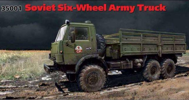Сборная модель автомобиля КамАЗ-4310 в масштабе 1/35