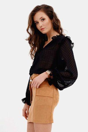 Nowa czarna delikatna bluzka z guziczkami 38 M