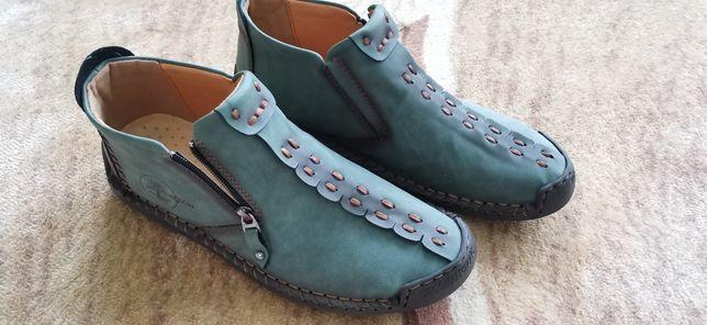 Buty skórzane /NOWE/wkładka 30 cm/