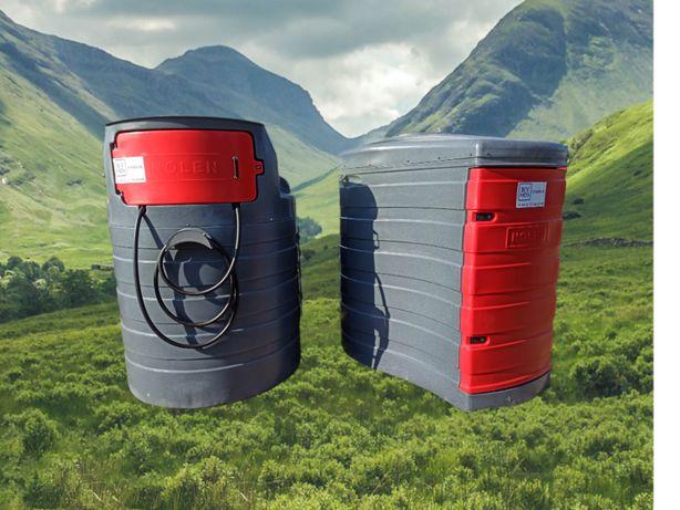 Zbiornik na paliwo ropę 1500L dwupłaszczowy