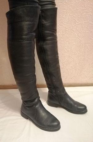Продам зимние кожаные сапожки