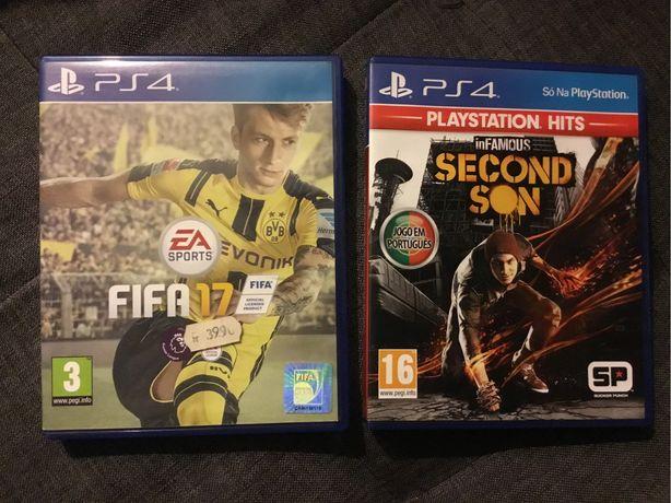 Jogos PS4 - Second Son / FiFa 17