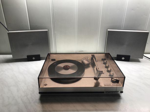 Gramofon Telefunken partyset 208 stereo ze wzmacniaczem + głośniki