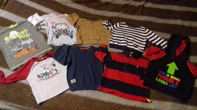 Пакет одежды мальчику до 2 лет:штаны,кофточка,курточка,шапка,носки