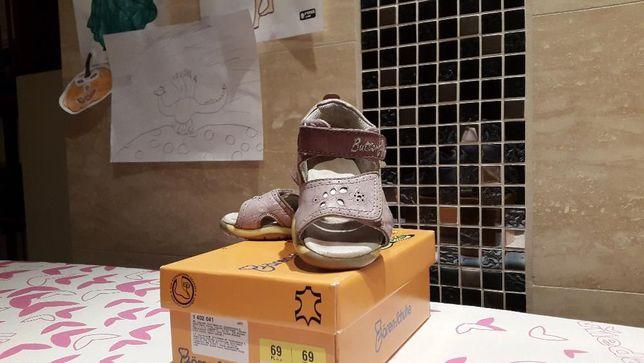 Sandały sandałki SKÓRZANE BAREN - SCHUHE R. 22